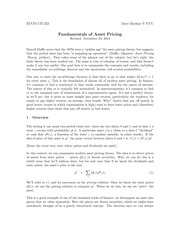 Fundamentals of Asset Pricing
