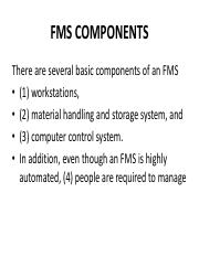 5.1 FMS COMPONENTS
