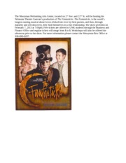 Fantasticks Press Release
