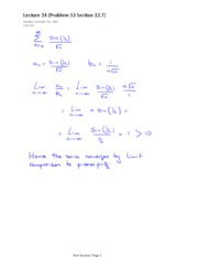 Lecture 14 (Problem 33 Section 12.7)