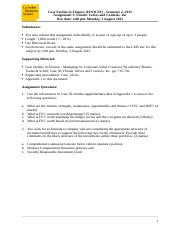 FIN3CSF S2 2015 Assignment 1.docx