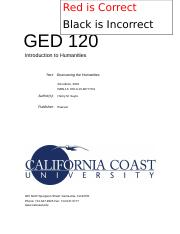 GED 120 - Introduction to Humanities (Study Guide).docx