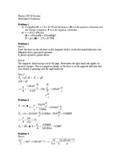 Worksheet #6 - Solutions
