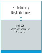 Chapt.5 Probability Distributions
