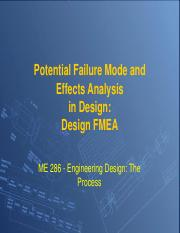 FMEA lecture and Exam review