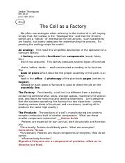 BIO Week 2 LA2 (The Cell as a Factory).docx