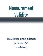 CE...Chapter 4 - Measurement Validity