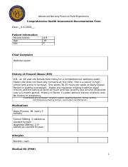 Comprehensive Health Assessment Documentation Form.docx
