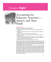 Chapter 8  Accounting for Fiduciary Activities-Agency and Trust Funds
