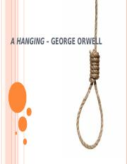 Hanging george orwell thesis