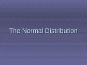 The_Normal_Distribution