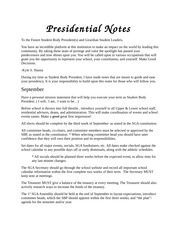 Presidential Notes
