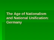 National Unification of Germany