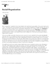 "Social Organization â€"" North American Indians"
