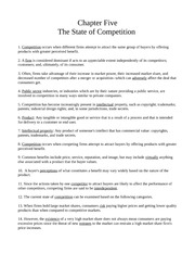 Chapter Five - The State of Competition