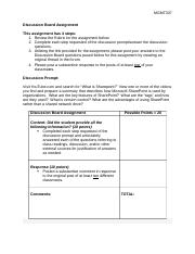 Discussion Board Assignment Rubric - Chapter 8(3).doc