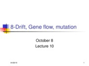 BIO 10-Drift& Gene flow08WEB