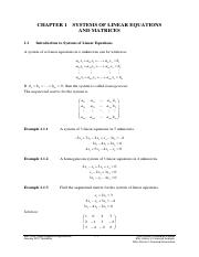 Chapter 1 Systems of Linear Equations and Matrices(1)
