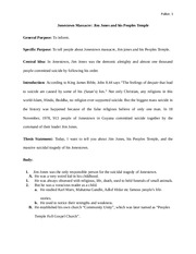Jonestown Thesis Statement – 130686