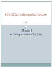 Ch.2 - Marketing Management