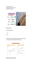 Phys 1028 Forms of Energy Lecture 11-13 Notes