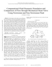 Computational-Fluid-Dynamics-Simulation-and-Comparison-of-Flow-through-Mechanical-Heart-Valve-Using-