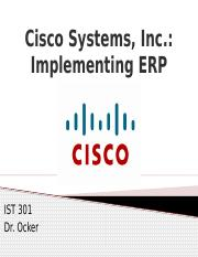 cisco systems inc implementing erp case