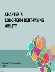 CHAPTER 7 LONG-TERM DEBT-PAYING ABILITY.ppt