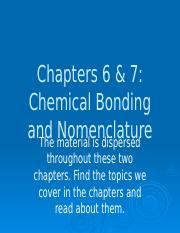 PPT - Ch  6  7 Chemical Bonding and Nomenclature