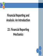 Reading+23+Financial Reporting Mechanics.pptx