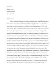how to write an essay example free