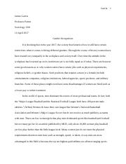 Gender Occupations Essay