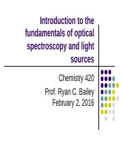 Lecture 5 - Brief Fundamentals of Optical Spec and Light Sources(2) (1)