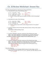Ch. 10 Review Sheet Answer Key (1)