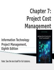 7- Project Cost Management