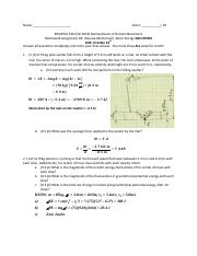 Homework 4 Impulse Momentum Work Energy Solutions