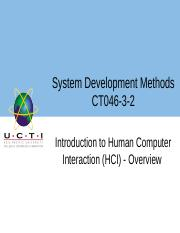 11 Week 7 UCTI Lecture 1  Introduction to Human Computer Interaction HCI