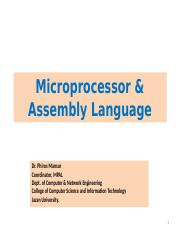 Chapter 1 Part I Introduction to Microprocessors.ppt