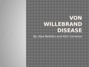Von Willebrand Disease Proj.