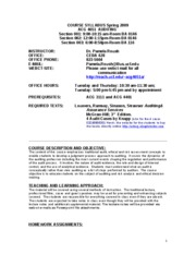 fin 3512 001 syllabus summer 15 It's never too early to start planning your summer 2018 coursework get a jumpstart on your gen eds, or finish off that minor first session runs from may 14 to june 22 second session from june 27 to august 8.