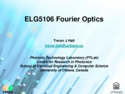 ELG5106 Fourier Optics Ch2 Linear Systems
