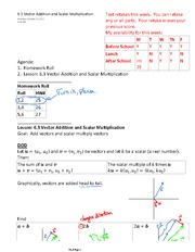 6.3 Vector Addition and Scalar Multiplication