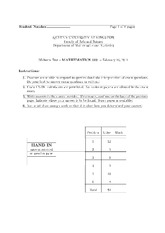 2011 Midterm 1 Solutions