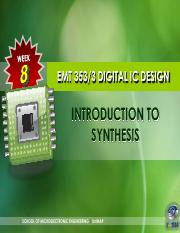 W6 INTRODUCTION TO SYNTHESIS