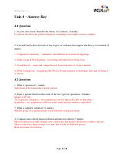 Life Sciences:Biology 11 WCLN - Unit 4 ~ Learning Guide Answer Key.pdf
