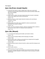 Test 4 Quizzes