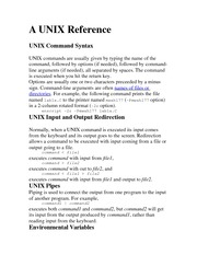 A UNIX Reference Lecture Note For Coding Projects