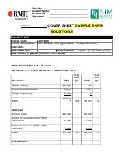 ACCT1068 Cost Analysis and App  Sample Exam s1 2016 Solutions .docx