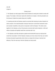 Chapter 5 Closing Case II