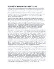 Symbolic Interactionism | Psychology essays | Essay Sauce Free Student Essay Examples